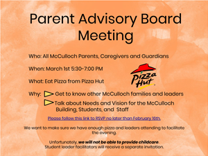 Parent Advisory RSVP Flyer