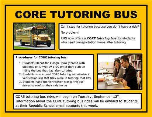 Core Tutoring Bus