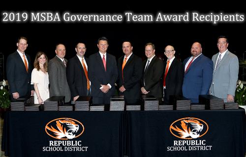 Board of Education Receives MSBA Governance Team Award