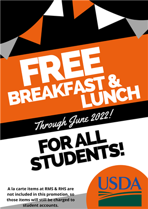 Free meals through June 2022