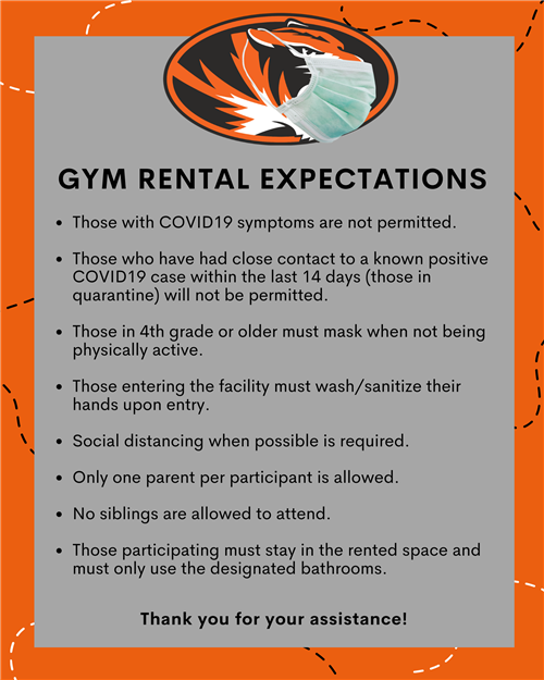 gym rental expectations
