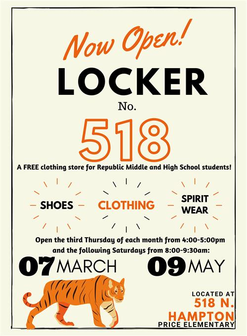 Locker 518 Free Clothing Store for RMS & RHS Students Now Available!