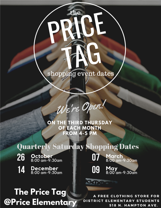 Price Tag FREE Clothing Store Shopping Opportunities