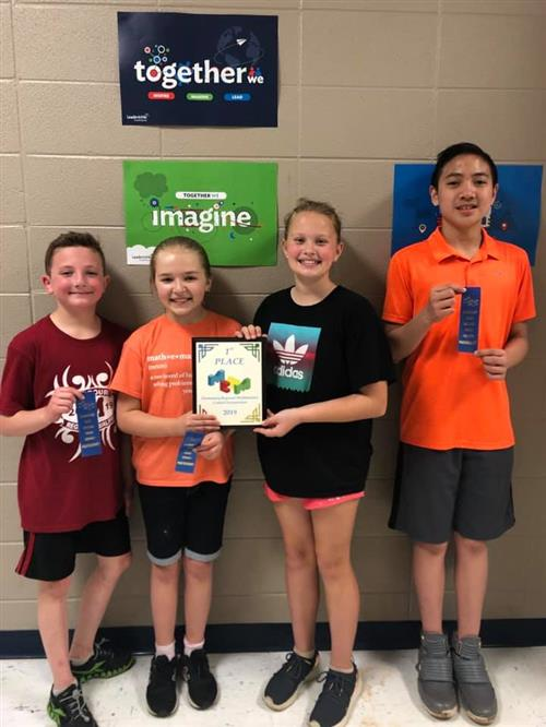 Elementary Students Headed to STATE Math Competition