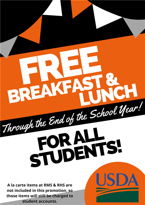 Free meals through EOY
